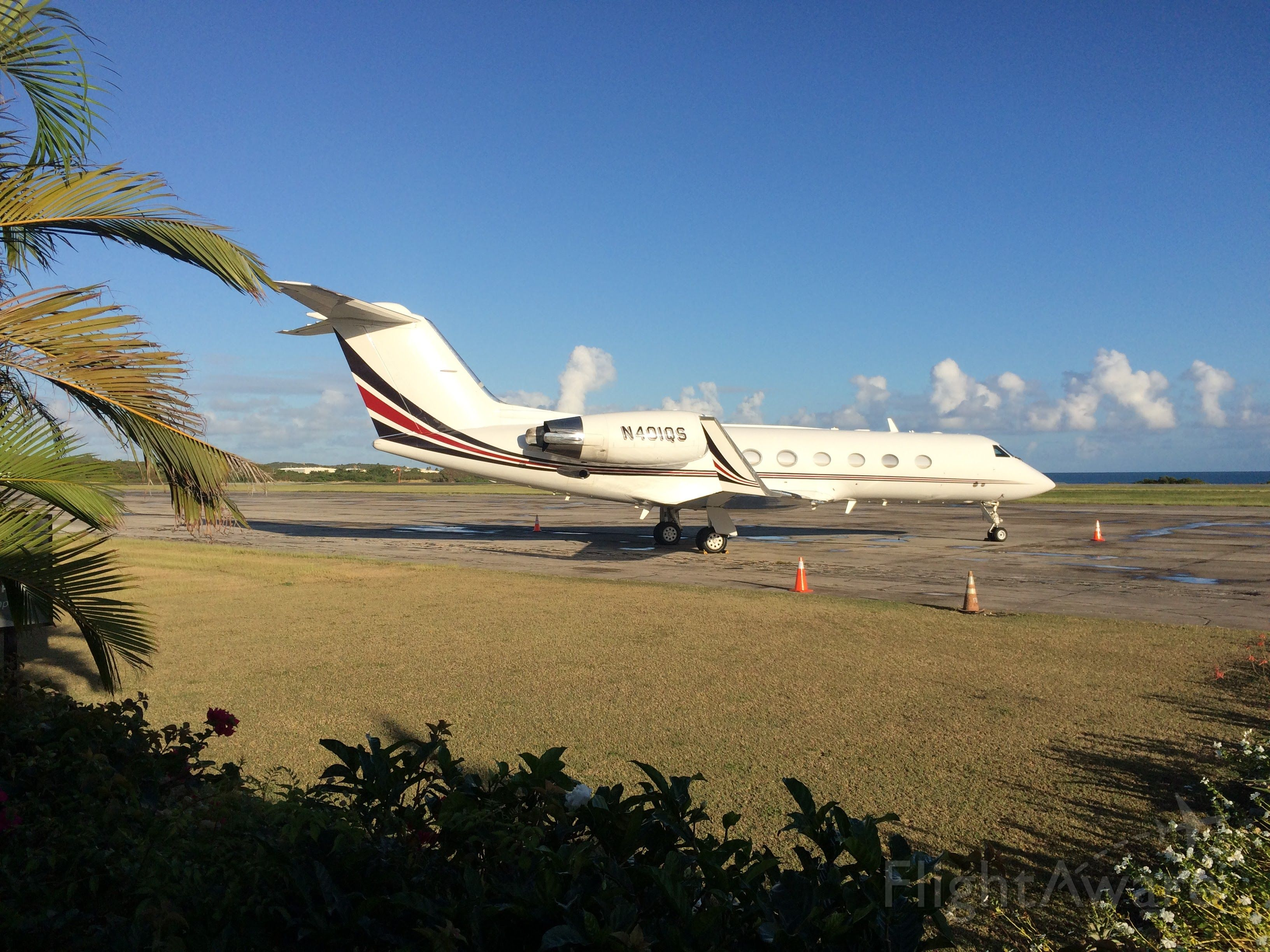 Gulfstream Aerospace Gulfstream IV (N401QS) - Sitting on the ramp in Antigua.