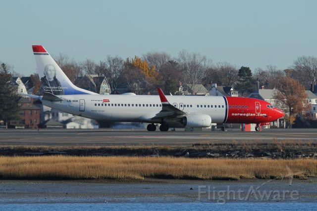 Boeing 737-800 (LN-NIH) - Departing runway 22R