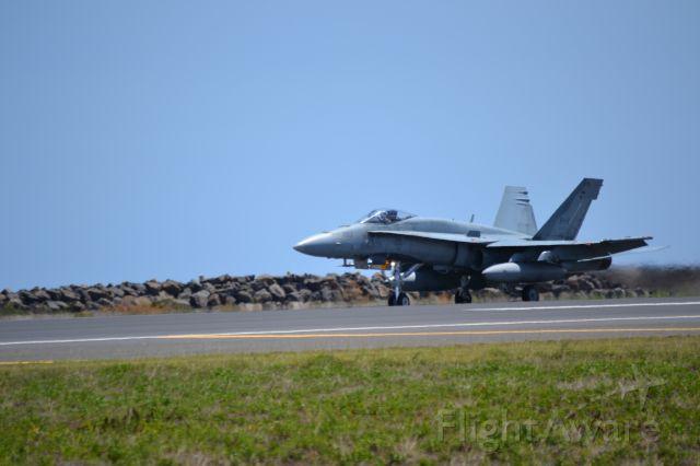 McDonnell Douglas FA-18 Hornet — - An F-18 blasting out of Honolulu.