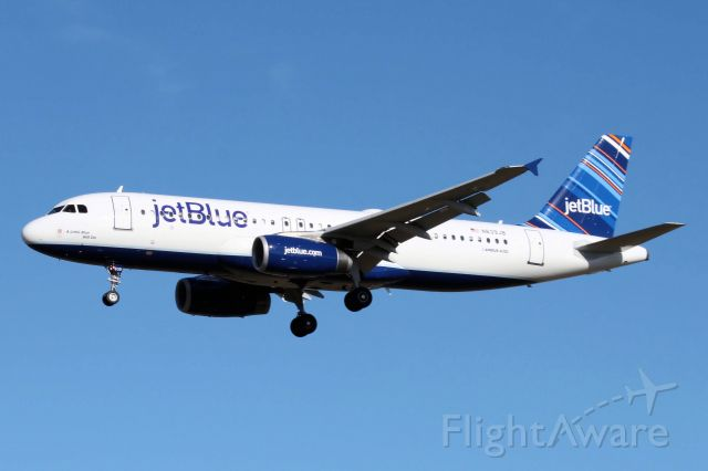 "Airbus A320 (N639JB) - ""A Little Blue Will Do"" (12-12-2010)"
