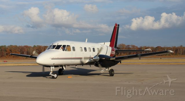 Embraer EMB-110 Bandeirante (N72RA) - An Embraer EMB-110P1 beginning to taxi at Pryor Field Regional Airport, Decatur, AL - November 30, 2016.