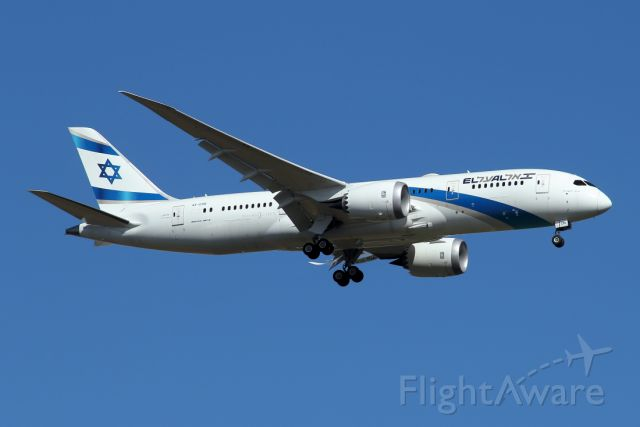 Boeing 787-8 (4X-ERB) - 09/12/2020 :  A short duration flight of 0h40m, round trip TLV-TLV.
