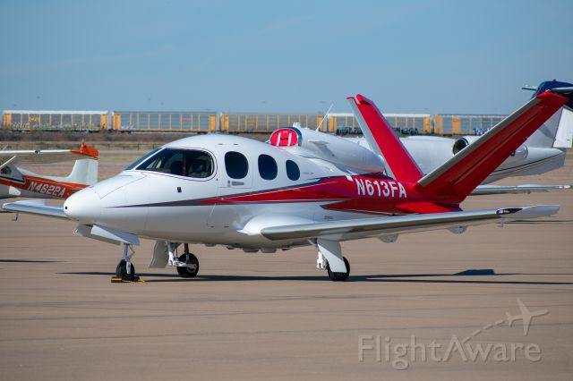 Cirrus Vision SF50 (N613FA) - This example is currently owned by the manufacturer, Cirrus. Taken November 17, 2018 at Fort Worth Alliance Airport.