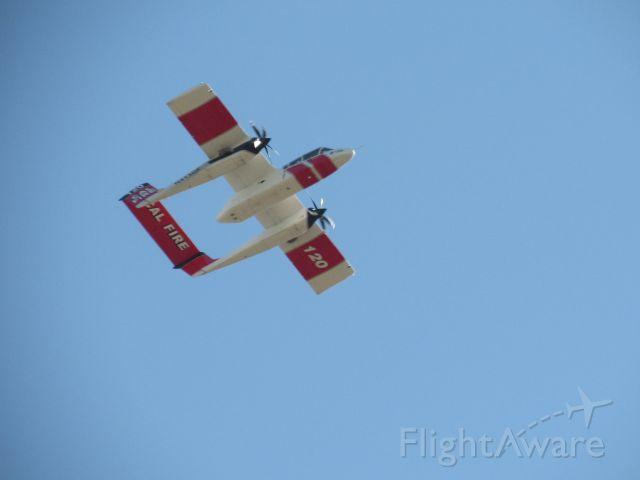 N413DF — - N413DF flying over KPTV.
