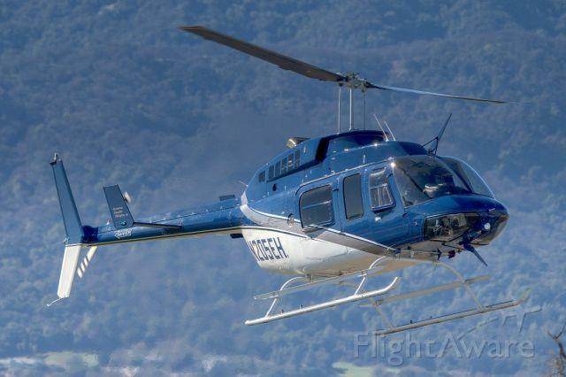 Bell JetRanger (N205EH) - Bell 206L-3 Long Ranger over Livermore Municipal Airport. February 2021