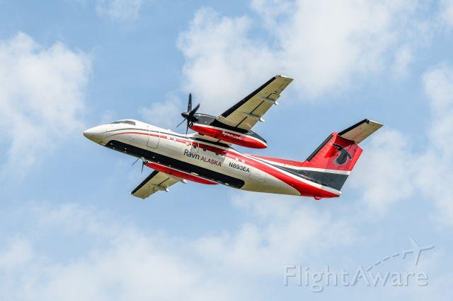 de Havilland Dash 8-100 (N893EA) - Ravn Alask N893EA Departing the Grande Prairie Airport