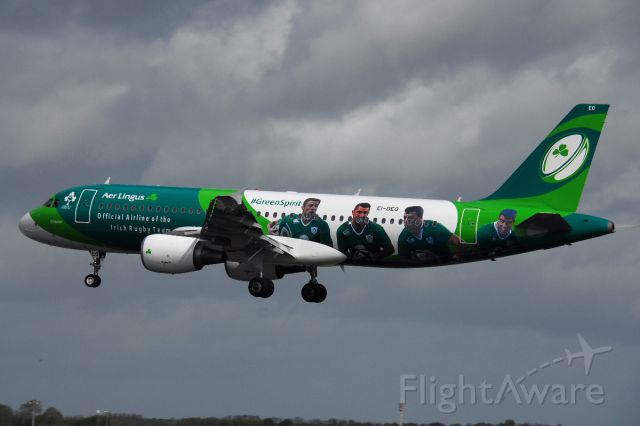 Airbus A320 (EI-DEO) - This A320 has been painted in a special livery to promote the airline