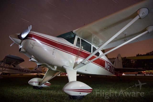 Piper PA-22 Tri-Pacer (N8714D) - Night shot done by Chester L. Wehe at Antique Airfield Iowa Summer 2013