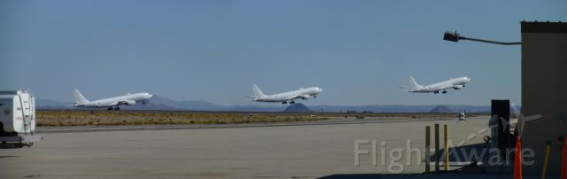 Boeing E-6 Mercury — - Taking off from Mojave Air and Space port. Great day