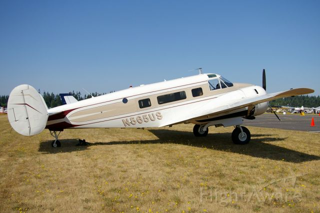 N565US — - Vintage Beech 18 seen on display at the 2009 EAA Fly-In.