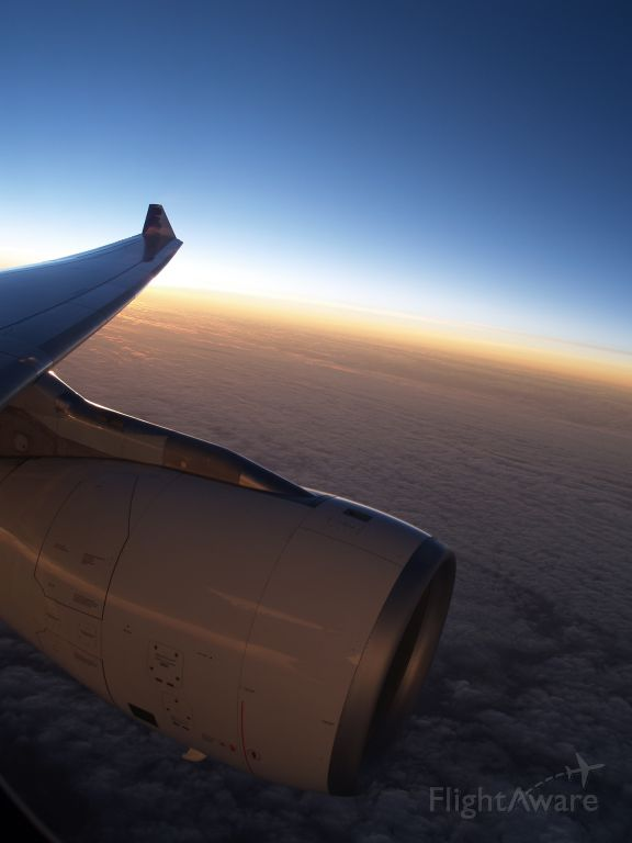 Airbus A330-200 — - Sunset over the Pacific enroute from HNL to LAS
