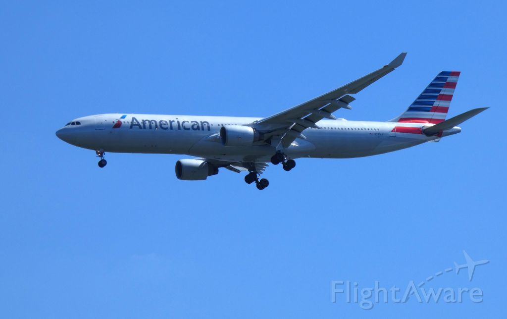 Airbus A330-300 (N271AY) - Shown here on approach is an American Airlines Airbus A330-300 in the Summer of 2018.