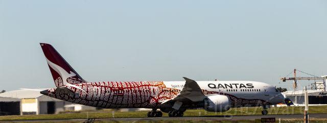 Boeing 787-9 Dreamliner (VH-ZND) - Aircraft commencing take-off.