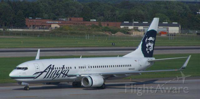 Boeing 737-800 (N514AS) - Alaska Airlines B737-800 N514AS on arrival at KMSP on 14 August 2009, flight 38 from KSEA.