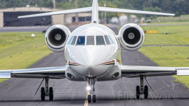 Dassault Falcon 2000 (N54J) - July 30, 2019, Lebanon, TN -- N54J taxiing out to runway 19 for departure. Uploaded in low-resolution.  Full resolution is available at cowman615 at Gmail dot com. cowman615@gmail.com