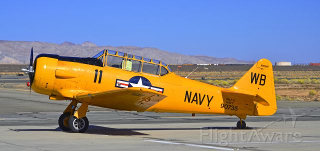 North American T-6 Texan (N11HP) - Taken at the mojave airport wile having lunch at the Voyager Restaurant.
