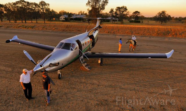 Pilatus PC-12 (VH-VTF) - There are still some jobs that really need a horse but having a PC12 to travel in is much, much quicker.