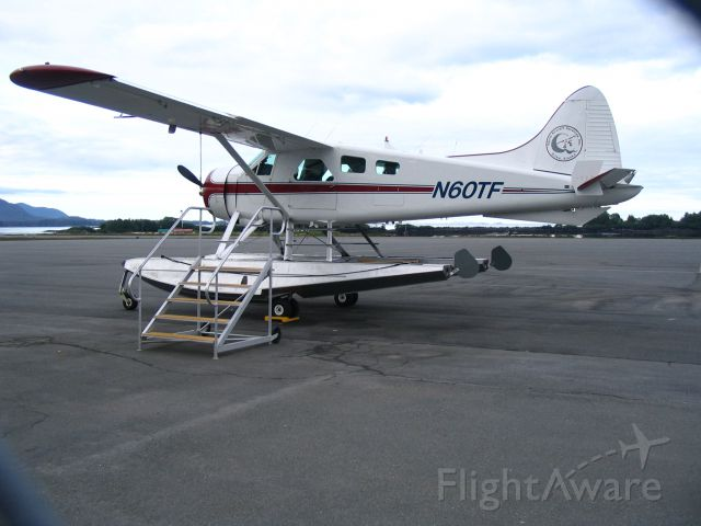 De Havilland Canada DHC-2 Mk1 Beaver (N60TF) - Preparing to board for a flight from Sitka to Warm Springs Bay