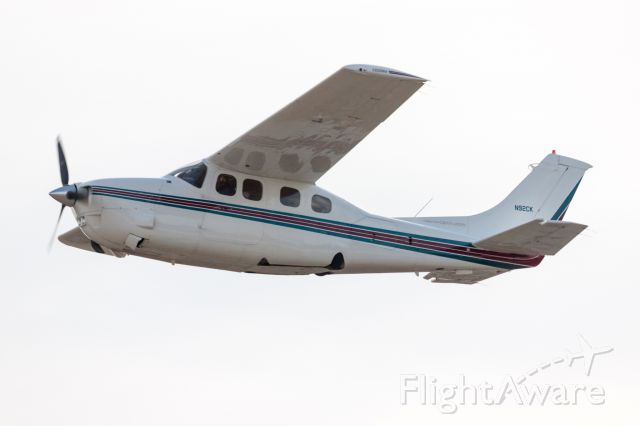 Cessna P210 Pressurized Centurion (N92CK) - Taken from the ground during take-off at Carlisle PA  ( N94 )
