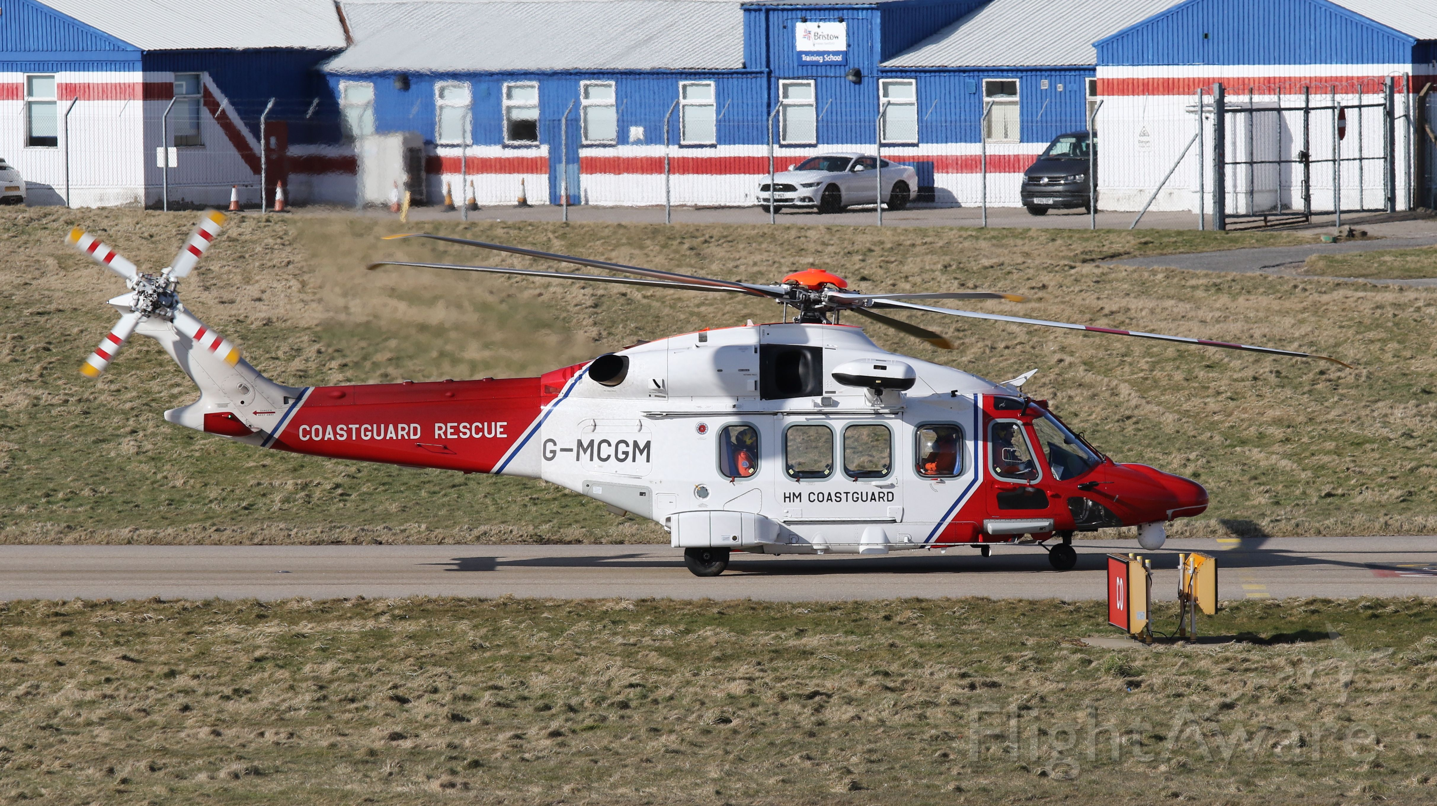 AgustaWestland AW189 (G-MCGM) - Marine Coastguard AW189 operated by Bristow departs Aberdeen for Inverness on March 11, 2020