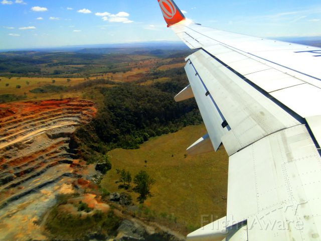 Boeing 737-800 (PR-GTL) - BOEING 737-800 OF GOL AIRLINES FROM VITÓRIA-ES TO BELO HORIZONTE-MG, BRAZIL.
