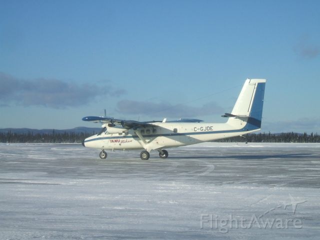 C-GJDE — - Running Engines before taxxing to Terminal at Goose Airport NL  Dec 13/08