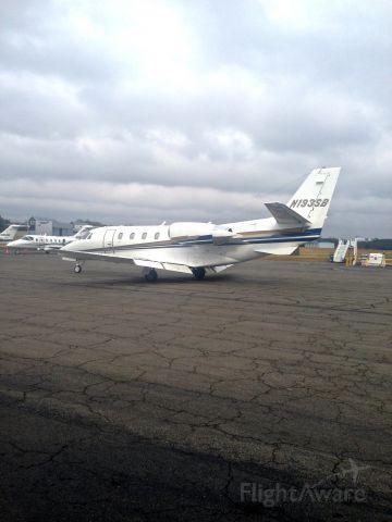 Cessna Citation Excel/XLS (N193SB) - Pulling into the Landmark Ramp in Winston-Salem, NC