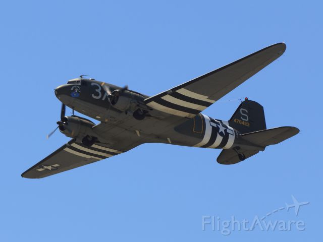 — — - C-47B Skytrain / WHATS UP DOC / D-DAY Invasion Paint / Built in 1944<br />Chino, Ca. Planes of Fame 2014 AirShow