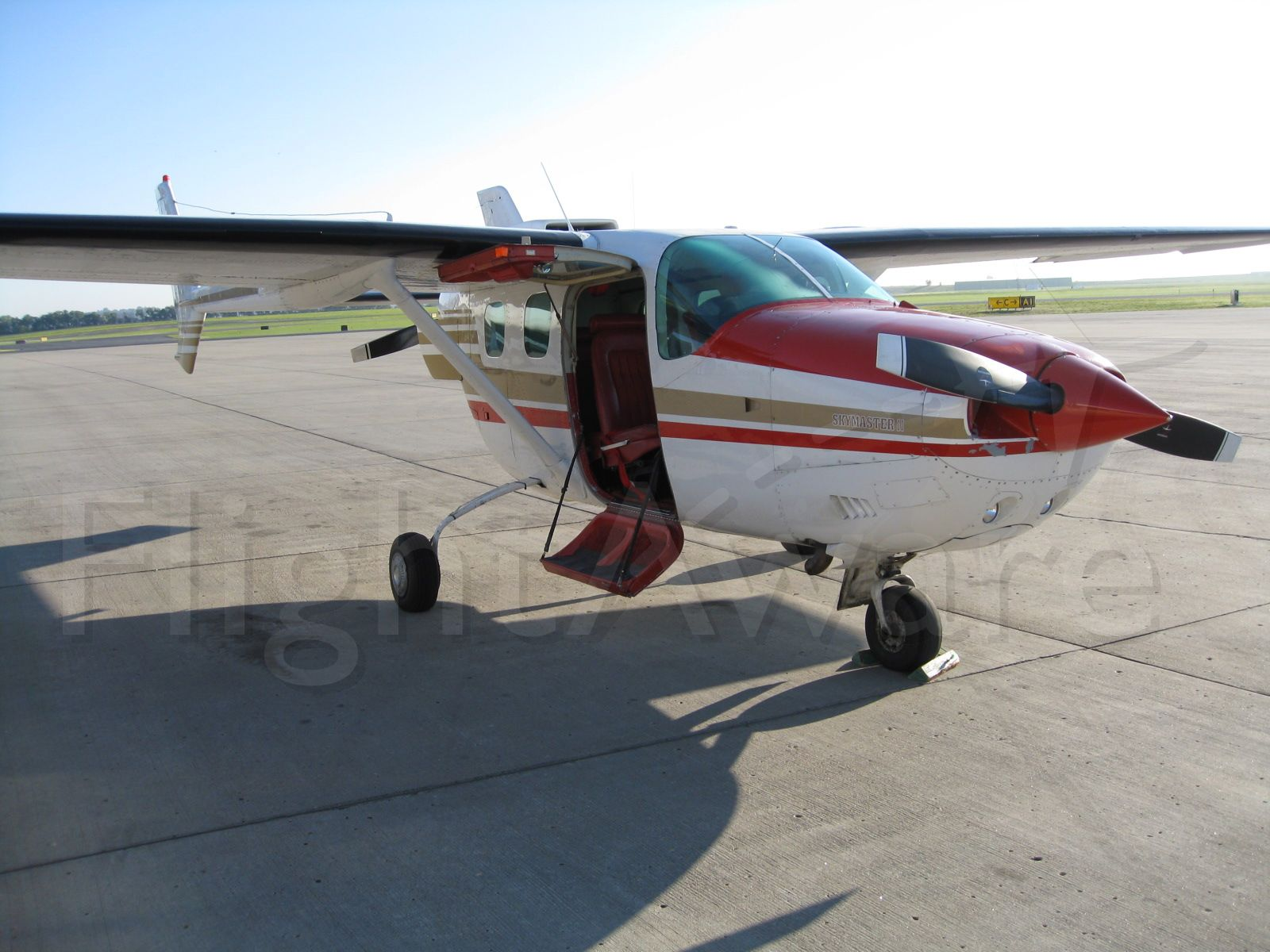 Cessna Super Skymaster (N333SS) - Owned by the North Dakota Aeronautics Commission, this Skymaster performs various tasks.  From airport inspections, aerial photography, and passenger transport, this aircraft is ready for anything, except icing conditions!