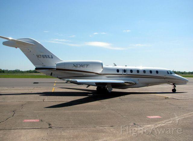 Cessna Citation X (N765XJ) - Parked at Downtown Shreveport.