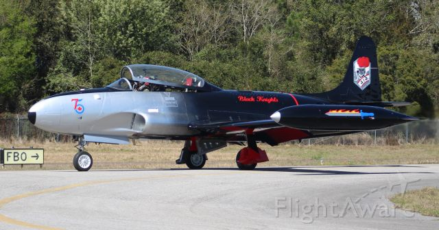 Lockheed T-33 Shooting Star (N133CN) - A Canadair CT-133 Mark III Silver Star, taxiing at H.L. Sonny Callahan Airport, Fairhope, AL, during the Classic Jet Aircraft Association's 2020 JetBlast, morning of March 6, 2020.