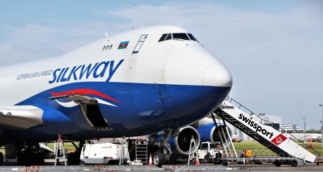 Boeing 747-400 (4KSW008) - silkway west airlines b747-4r7f 4k-sw008 at shannon 29/5/20.
