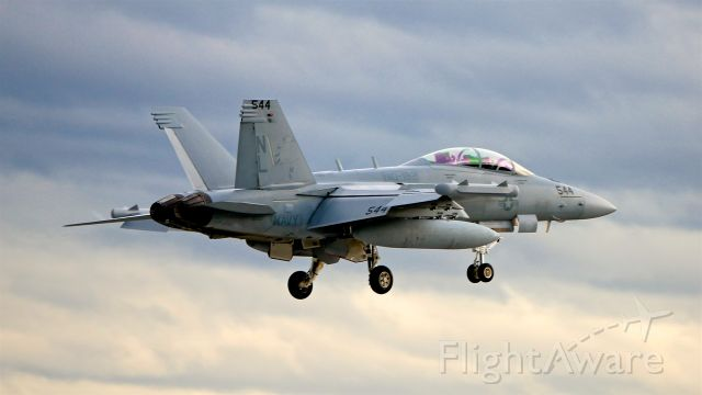 16-9127 — - USN EA-18G Code: NL 544 / Ser #169127 / cn G118 / VAQ-132 'Scorpions' based at NAS Whidbey Island, WA makes a touch / go on Rwy 16R on 12.17.18.