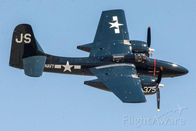 NX379AK — - Grumman F7F Tigercat aerobatics performed by Stew Dawson.
