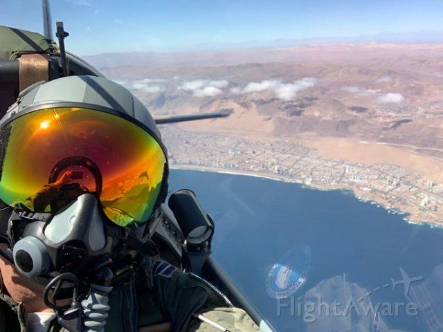 — — - Super Tucano A-29 in the North of CHILE.