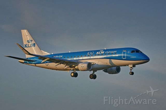PH-EXM — - KLM's Embraer ERJ-175 on final approach at EPPO, opening connection AMS-POZ. 25.10.2020