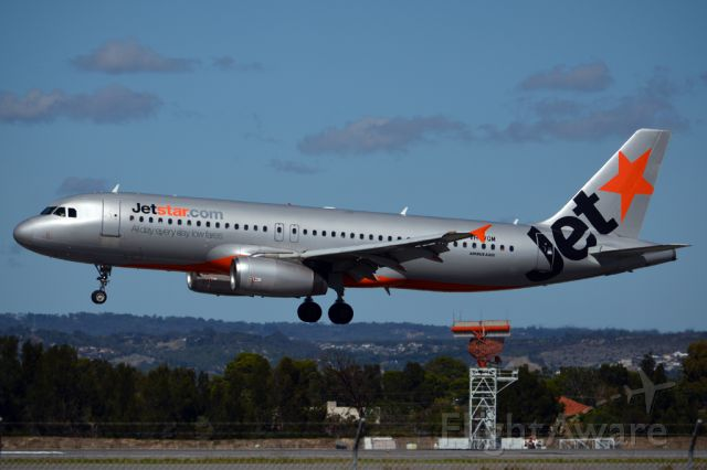 Airbus A320 (VH-VQM) - On short finals for runway 05. Monday, 14th April, 2014.