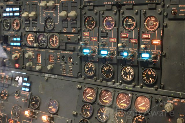— — - 747 Engineers panel, on display at Smithsonian