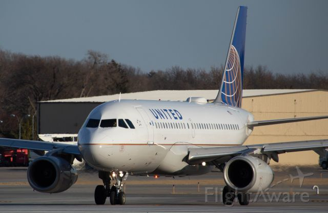 Airbus A319 (N897UA) - While this United baby bus may look normal, it is actually one of about 30 that United has gotten/is getting from China Southern. This reminds me a lot of when Delta bought all those MD90-30 from China Southern around 2013. United 1634 is about to turn into Runway 23 for departure to Denver at 4:36 PL N897UA A319-132. Photo taken March 4, 2020 with Nikon D3200 at 300mm.