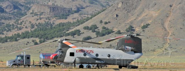 "ASAP Chinook (N562AJ) - At the Portola Airport near the ""Walker Fire"""