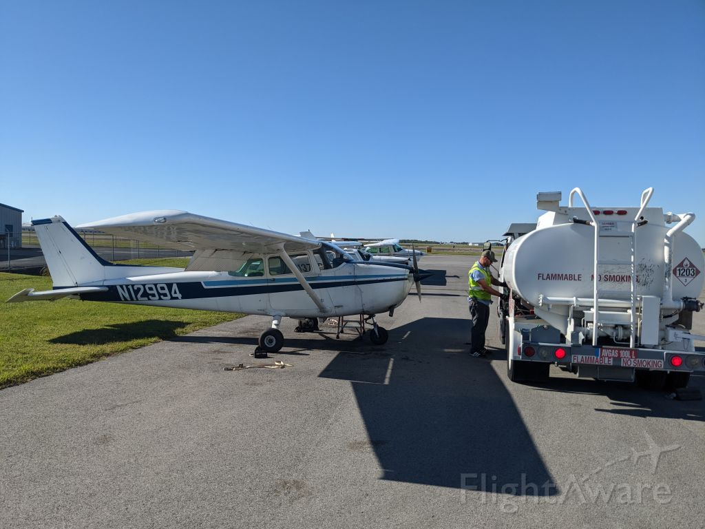 Cessna Skyhawk (N12994) - Fueling up for first lesson at Nashville Flight Training