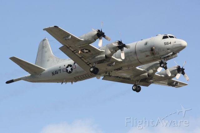 Lockheed P-3 Orion (15-8564) - US Navy P-3 Orion ( 158564) approaches Sarasota-Bradenton International Airport
