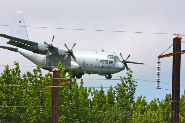 FLZ2310 — - USMC QH-2310 KC-130T Hercules landing just above the treetops at Martin State Airport in Essex, Maryland on June 17, 2012.