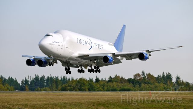 Boeing 747-400 (N747BC) - GTI4356 from KIAB on final approach to runway 34L on 9/26/12. (LN:904 cn 25879).