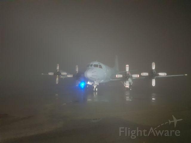 — — - Early morning fog.