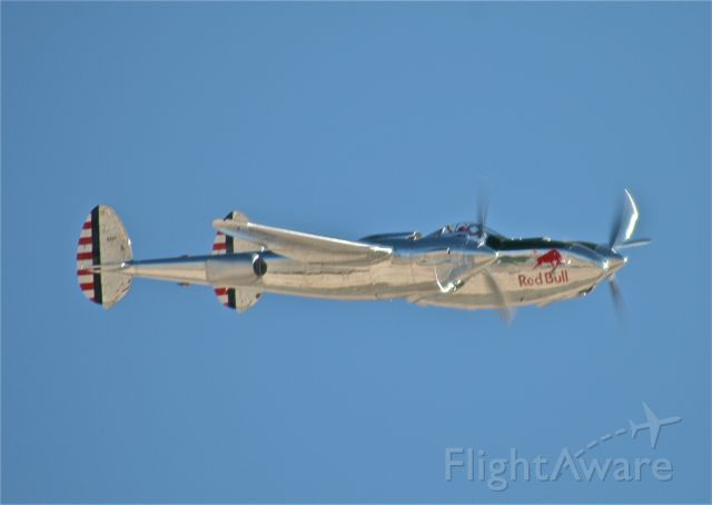 Lockheed P-38 Lightning (N25Y) - RED BULL P-38 LIGHTNING              AVIATION NATION,NELLIS AFB,2008