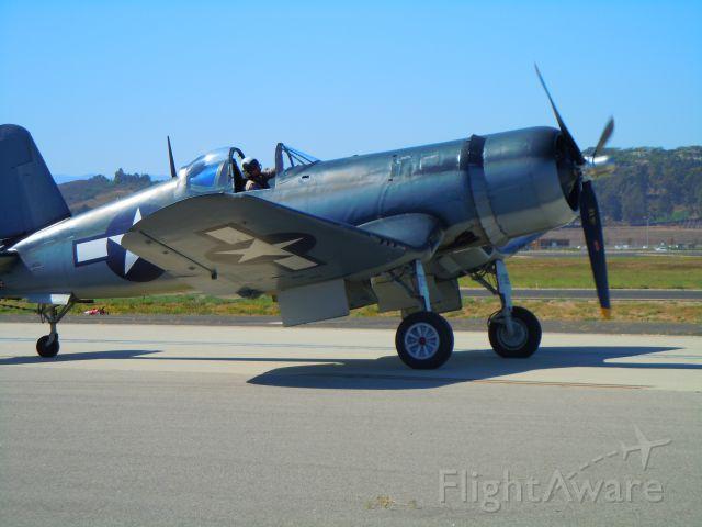VOUGHT-SIKORSKY V-166 Corsair — - Corsair taxiing at Camarillo airport airshow 8/21/10