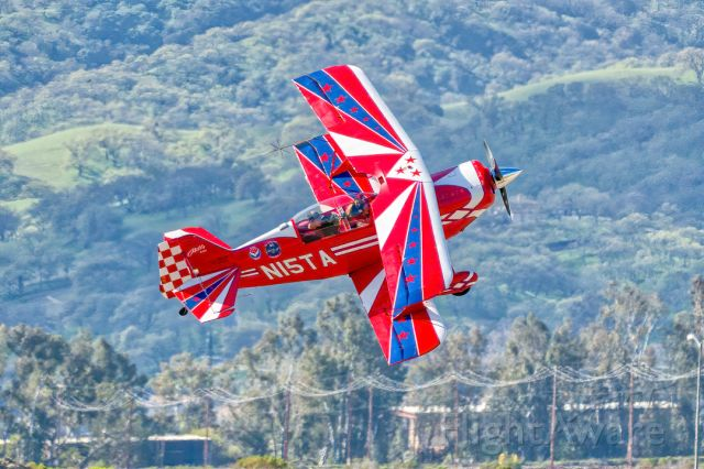 PITTS Special (S-2) (N15TA) - Aviat Pitts S-2C departing Livermore Municipal Airport (CA). March 2021