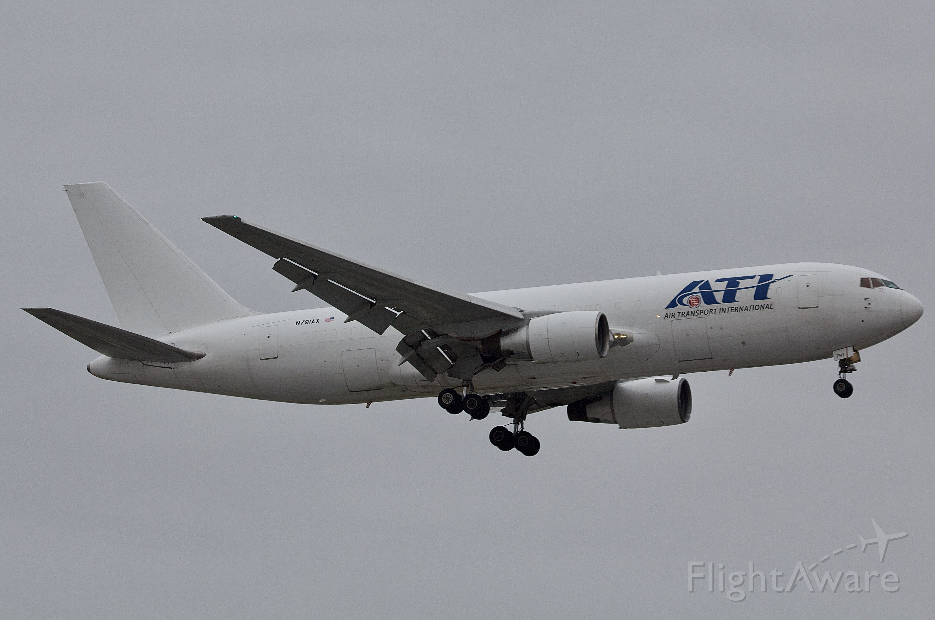 BOEING 767-200 (N791AX) - Originally delivered to ANA in 1985, now living out her days as a freighter