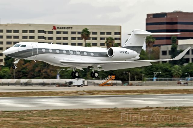 Gulfstream Aerospace Gulfstream G650 (N279GA) - About to land after a test flight at Long Beach CA. (LGB/KLGB)